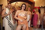 College naked toga party video