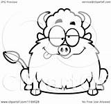 Drunk Buffalo Clipart Chubby Cartoon Cory Thoman sketch template