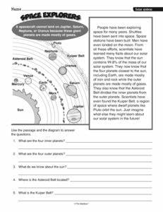 Solar System Comprehension Worksheets - Pics about space