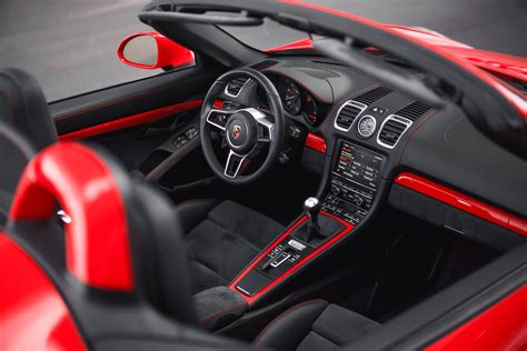porsche boxster interior guards red porsche boxster spyder with color matched