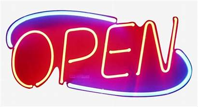 Neon Sign Open Clipart Transparent Pngkey