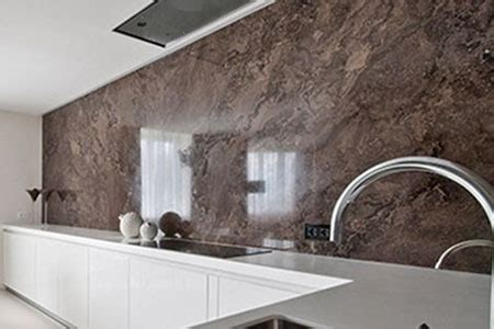 kitchen wall  affixed  aluminum composite panels alusign