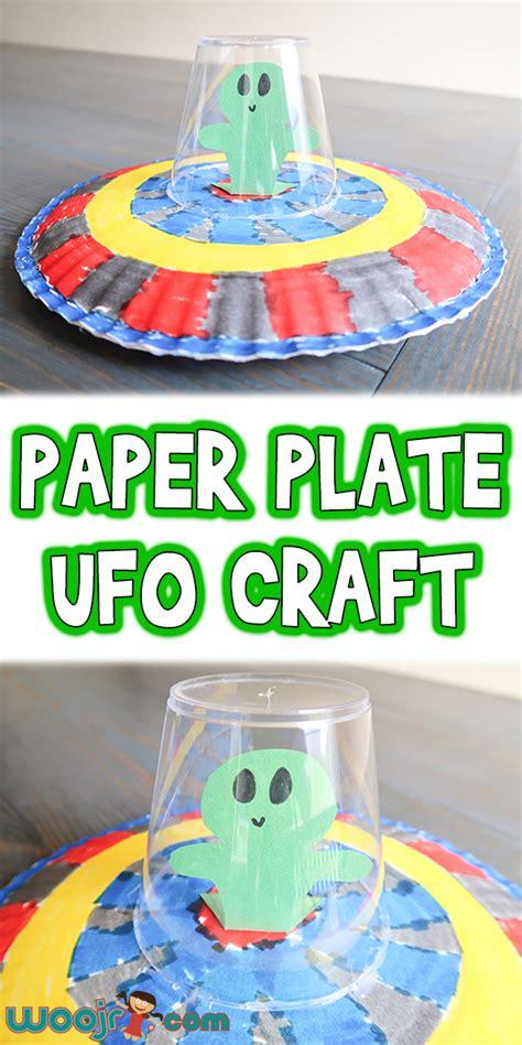 paper plate ufo craft woo jr kids activities