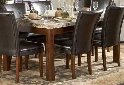 Homelegance Achillea Dining Table with Marble Top 721M66