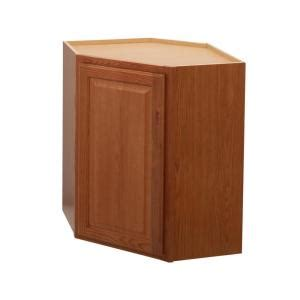oak kitchen wall cabinets hton bay hton assembled 24x30x12 in diagonal corner 3583