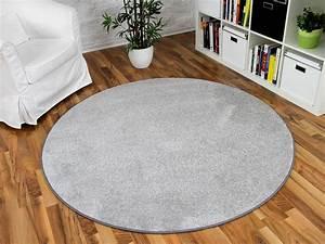 Hochflor Teppich Rund : hochflor velours teppich triumph hellgrau rund in 7 gr en teppiche hochflor langflor teppiche ~ Indierocktalk.com Haus und Dekorationen