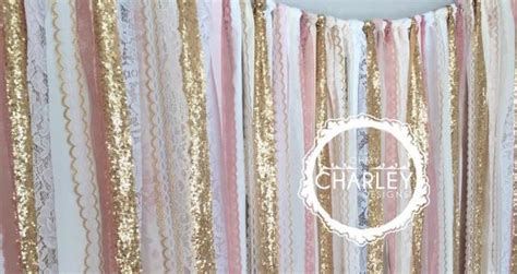 pink and gold shower curtain pink gold sparkle sequin fabric backdrop with lace