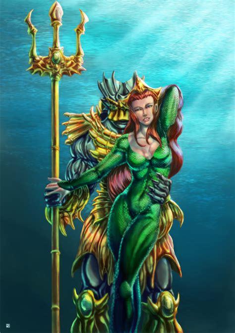 merman queen mera  cric  deviantart