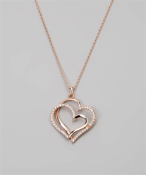 dainty sweet love heart necklace accessories double