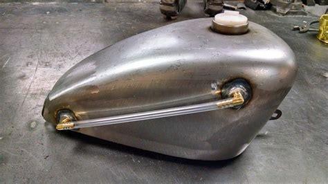 Peanut Gas Tank With Brass Fuel Sight Gauge Installed