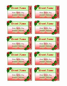 avery event ticket template - templates certificates holiday event tickets 10 per sheet