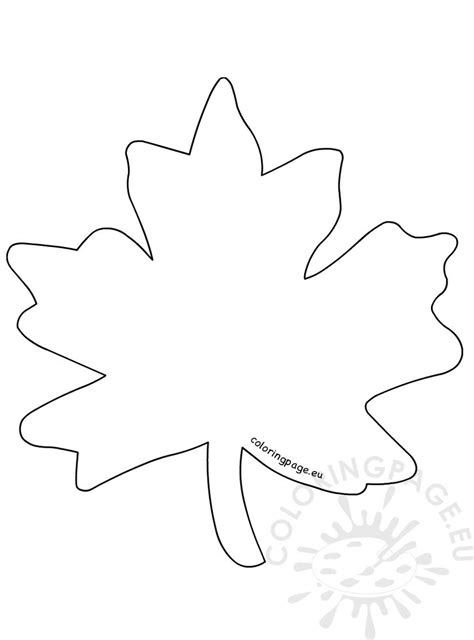 simple maple leaf coloring page printable coloring page