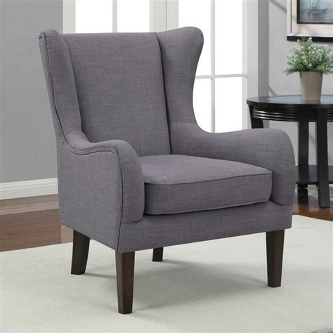 grey wingback wing back curved wing chair modern formal