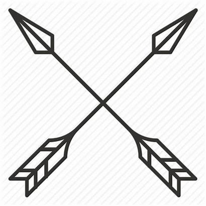 Arrows Arrow Cross Archer Icon Clipart Transparent