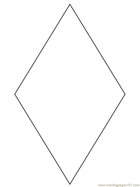 diamond coloring page  simple shapes coloring pages coloringpagescom