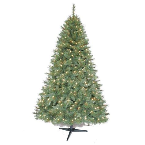 new 6 5 ft pre lit artificial aster pine tree with clear lights ebay