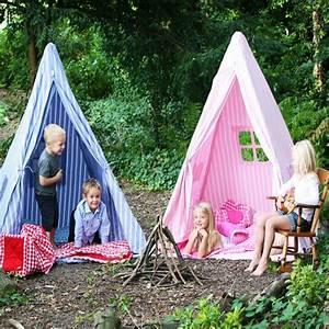 Tipi Enfant Fille : tente tipi indien cabane pour enfants ray bleu et blanc wingreen ~ Melissatoandfro.com Idées de Décoration