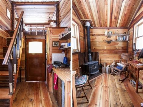 Loft 8 Home Interior : Rustic Modern Tiny House Rustic Tiny House Interior, Small