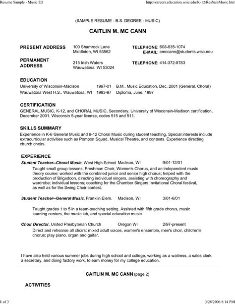 College Resume Format 2014 by Resume Keywords And Phrases 2014 Sle Resume For Summer
