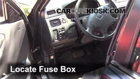 interior fuse box location   honda cr