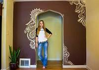 painting designs on walls Mehndi Wall Paint - I MOVED! - YouTube