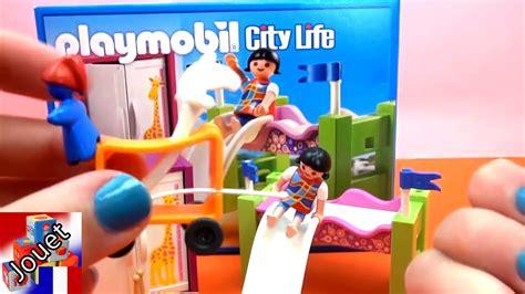 chambres de bebe playmobil 5579 chambre à coucher d enfant avec un lit en