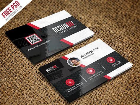 psd creative  modern business card template psd