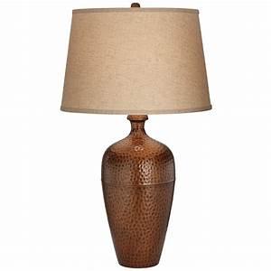 Zarah Slender Copper Table Lamp