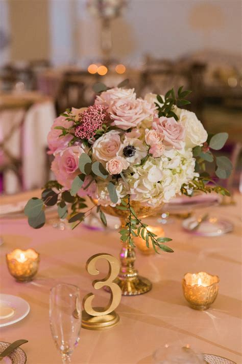blush  gold downtown st pete ballroom wedding vinoy