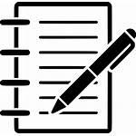 Notes Icon Note Pen Paper Document Pencil