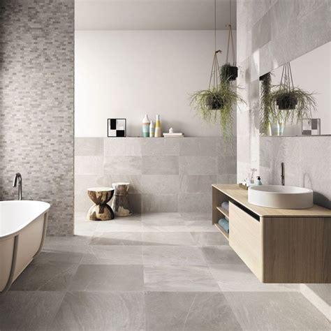 Badezimmer Gestaltungsideen Modern by Unglasierte Badfliesen In Steinoptik Hellgrau Bad Ideen
