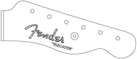 The Pdf Template Fender Stratocaster Standerd Headstock by Telecaster Headstock Google Search Templates Board