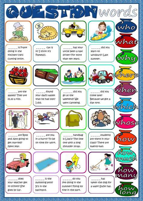 question words worksheet 2nd grade kidz activities