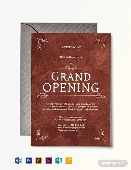 restaurant grand opening invitation template