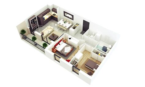 25 More 2 Bedroom 3D Floor Plans