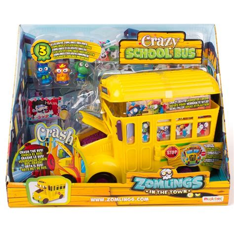 Barco Pirata Zomblings by Zomlings Crazy School Bus Dispersa Juguetes