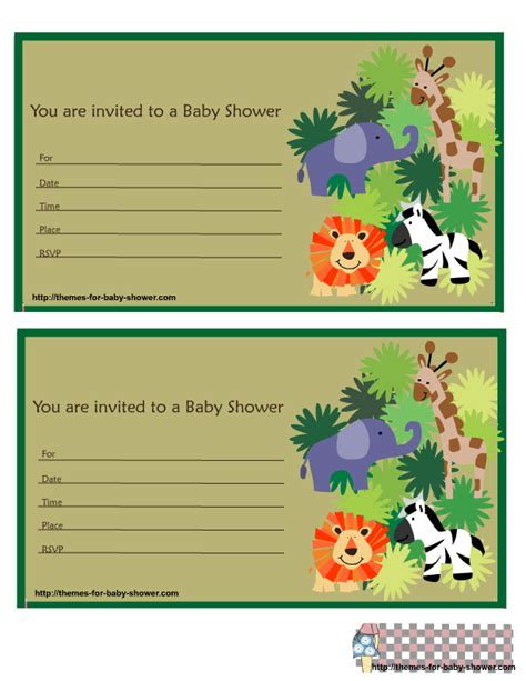 safari baby shower invitations dolanpedia invitations