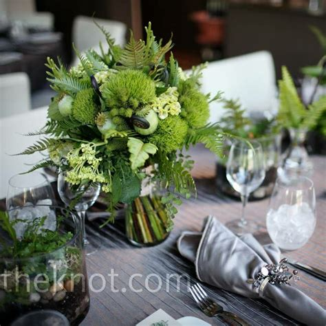 Fern And Moss Centerpieces