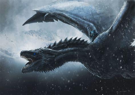 wallpaper night king dragon game  thrones concept art