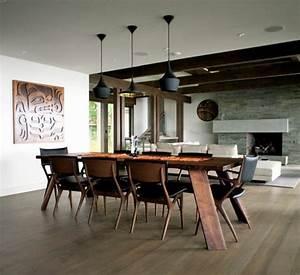 la meilleure table de salle a manger design en 42 photos With salle À manger contemporaineavec chaise de table design