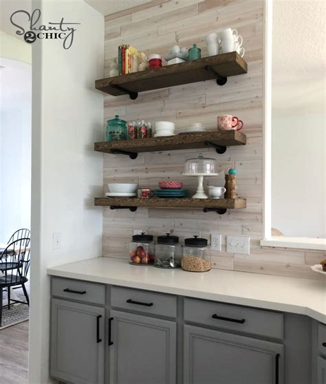 diy floating shelves  pipe shanty  chic