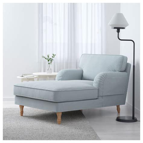chaise longue bois ikea stocksund chaise longue remvallen blue white light brown