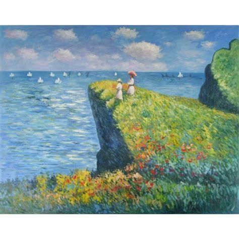 decoration oil painting cliff walk  pourville claude