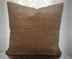 24x24 both sides decorative pillow cover taupe check