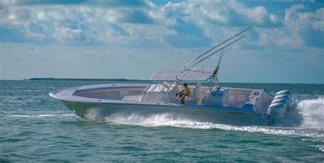 Offshore Boats Center Console by Seahunter Carbon Fiber Kevlar Tournament 45 Foot Offshore