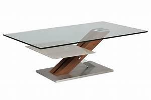 Table Basse Bois Et Verre : table basse design verre 12 mm et bois cbc meubles ~ Teatrodelosmanantiales.com Idées de Décoration