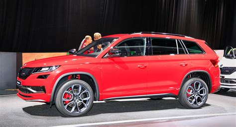 New Skoda Kodiaq Rs Makes Public Debut In Paris With Brand