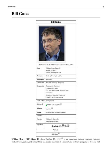 Bill Gates Biography Wikipedia   Computing   Technology