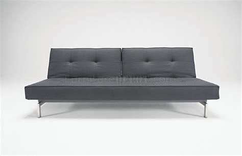 Splitback Sofa Bed W/steel Legs By Innovation
