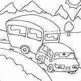 Caravan Camping Kleurplaat Colorare Coloring Tekening Drawing Vakantie Disegni Colouring Kleurplaten Printable Thema Zomer Bambin Camper Malvorlagen Theme Sheets Colorable sketch template